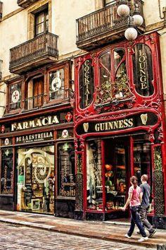 next trip: Barcelona! A street in Barcelona Montse Trilla Catalonia. Barcelona City, Barcelona Catalonia, Barcelona Travel, Beautiful Buildings, Beautiful Places, Figueras, Places To Travel, Places To Visit, Modernisme