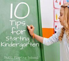 Still Playing School: 10 Tips to Ease the Kindergarten Transition (from a Kindergarten Teacher!)