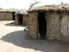 "massai dorf | Bild ""Hütten der Massais"" zu Masai Dorf in Tsavo Ost"