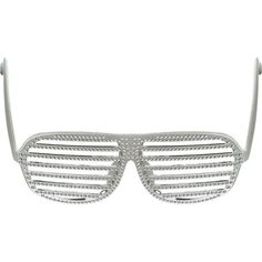 Rhinestone Slotted Glasses, $6.99