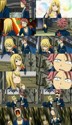 Natsu and drunk lucy