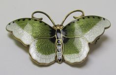 Hroar Prydz Sterling Enamel Butterfly Brooch Norway