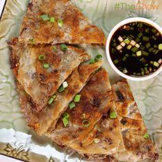 Ming Tsai's Stir-Fry Scallion Pancakes! #TheChew