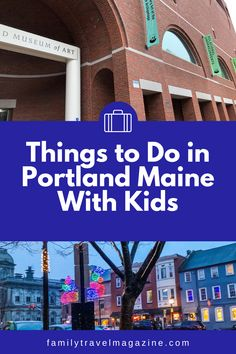 ad Portland Maine is a vibrant, fun New England city. It offers a lighthouse, delicious restaurants, and lots of things to do. Read our guide to Portland Maine with kids, including things to do in the winter, spring, summer, and fall. Visit Portland, Portland Maine, Best Vacation Spots, Best Vacations, Kittery Maine, Duck Tour, Stuff To Do