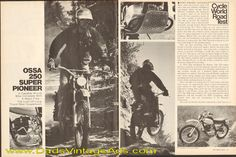 1975 Ossa 250 Super Pioneer Road Test / Specs