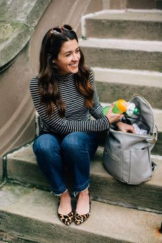Liz Adams of Sequins & Stripes shares some ideas for classic mom style!