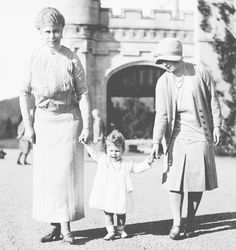 Queen Mary, Princess Elizabeth and the Duchess of York