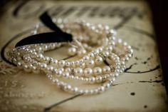 pearls & blk velvet - timeless style
