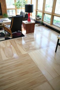 Plywood Floor-this is what I am doing for our laundry/craft room for sure