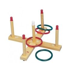kids toys outdoor sports games new familly activity fun play peg ring toss set