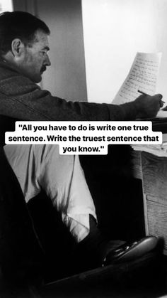 Quotable Quotes, Wisdom Quotes, Words Quotes, Wise Words, Life Quotes, Funny Quotes, Sayings, Ernest Hemingway, Hemingway Quotes