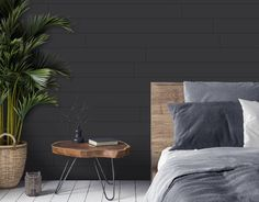 Shiplap Wood, White Shiplap Wall, White Paneling, Dark Accent Walls, Accent Walls In Living Room, Plank Walls, Wood Panel Walls, Wood Wall Paneling, Stick On Wood Wall