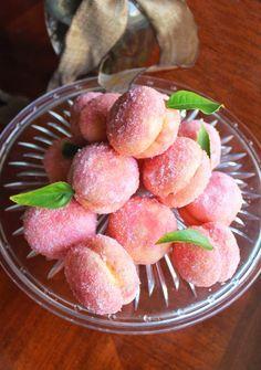 A Bit of Bees Knees: Pesche Con Crema {Italian Peach Cakes with Vanilla Cream and Peach Jam}