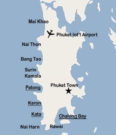 Phuket Dive site map