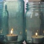 Make Your Own Blue Glass Jars Tutorial