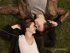 The Fault in Our Stars - Promo shot of Shailene Woodley & Ansel Elgort Divergent Scenes, Divergent Funny, John Green Quotes, John Green Books, Hazel And Augustus, Hazel Grace Lancaster, Cute Crush Quotes, Star Quotes, Book Quotes