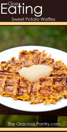 Sweet Potato Waffles. #CleanEating #Paleo