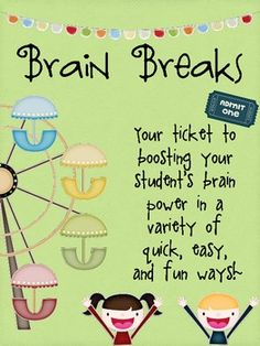 This 16 page file includes 36 brain breaks to do with your students. Detailed instructions and photos are included. Print the labels and glue them ...
