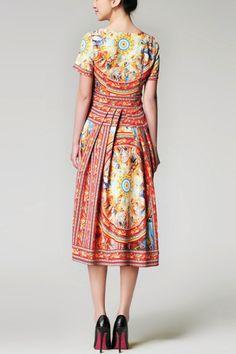 Sicilian multicolor dress