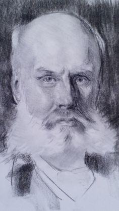 After John Singer Sargent Charcoal on paper 40 x 30 cm For sale