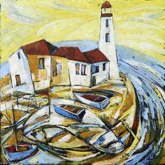 Galina Herndon - Big Fish - Oil on Canvas
