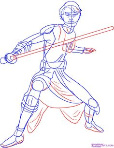 How to Draw Anakin Skywalker, The Clone Wars