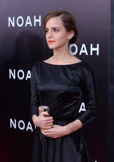 Emma Watson Cuff Bracelet - Emma Watson wore a delicately elegant gold cuff bracelet by Aurelie Bidermann to the NYC premiere of 'Noah.'