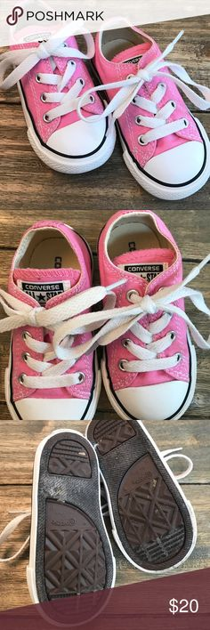 EUC PINK CONVERSE LIKE NEW CONDITION! Pink size 6 toddler Converse Converse Shoes Sneakers