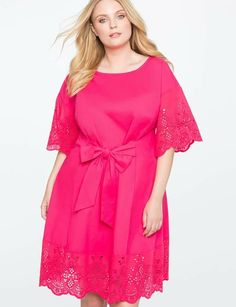 ecdd627172 View our Tie Waist Eyelet Detail Dress and shop our selection of designer  women s plus size Dresses
