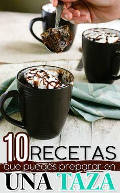Mug Recipes, Cake Recipes, Cooking Recipes, Mug Cake Microwave, No Cook Desserts, Love Eat, Desert Recipes, Junk Food, Food Hacks