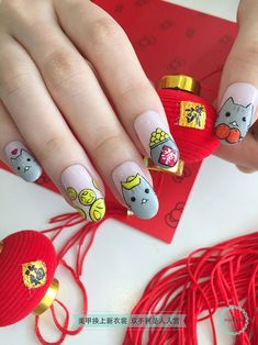 32 Best Chinese New Year Nail Art Design Images On Pinterest In 2018
