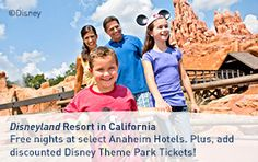 """NOW ON SALE AT WESTJET.COM: Receive a 5-Day Disneyland Resort Theme Park Ticket for the price of a 3-Day. Book by:December 19, 2014 (11:59 p.m. MT) Travel:October 9 - December 24, 2014 How to get this offer: During booking, guests will be prompted to select a """"5-Day"""" ticket of choice. The ticket price shown will already include the reduced rate for the 5-Day Theme Park Ticket. Disney Theme Park Tickets, Anaheim Hotels, All Inclusive Vacation Packages, 9 December, Just Relax, Disneyland Resort, The Selection, Promotion, Books"""