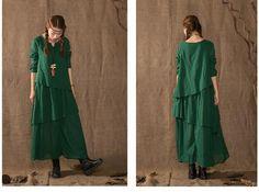 Cotton Linen Dress for Women
