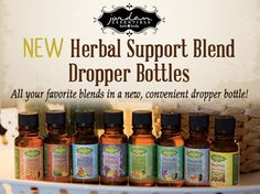 New herbal Support Blend Dropper Bottles all of our Essential Oils are therapeutic grade, which are free from pesticides and chemical fertilizers #natural #essentialoils #therapeutic