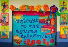 Vibrant Mexican themed display/art ideas
