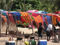 Markets like this in Mozambique are everywhere.  Loved the colors.