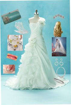 """""""little mermaid wedding for Taylor"""" by melody-kimmerle ❤ liked on Polyvore"""