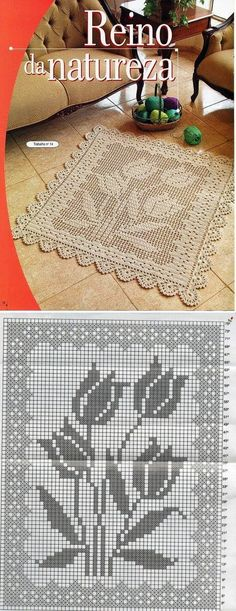 All Crochet: Afghans,Blankets ,Throws, Rugs, Mats. Filet Crochet Charts, Crochet Doily Patterns, Crochet Squares, Thread Crochet, Crochet Designs, Crochet Doilies, Stitch Patterns, Crochet Carpet, Crochet Home