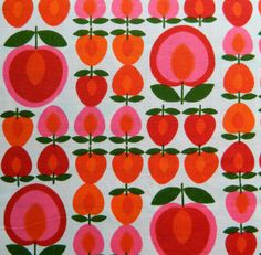 Day 42 - Vintage fabric. Alice Apple.