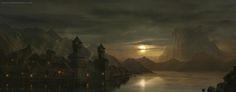Lake Town - The Hobbit by NateHallinanArt.deviantart.com on @deviantART