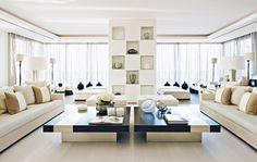 Stunning living room design by Kelly Hoppen at Beirut #interiordesigner #bestinteriordesigners #interiordesigninspiration home interior design, interior design ideas, interior decorating ideas Visit us at www.luxxu.net