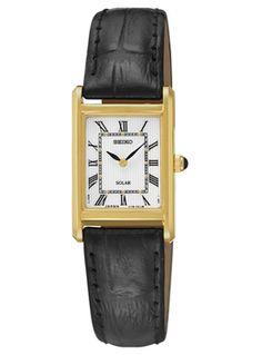 【ソーラー】SEIKOQUARTZLADYSセイコークオーツレディースSUP250送料無料腕時計時計逆輸入ゴールド金ホワイト白レザー革ベルト日本未発売