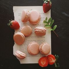 Strawberry Vanilla Macarons