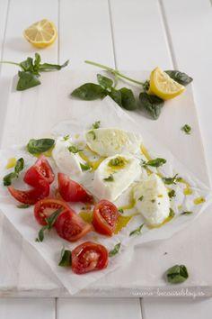 ensalada mozzarela marinada y tomates raf