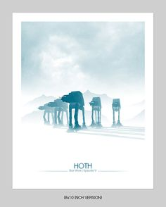 Frozen March Print by DirtyGreatPixelsUK on Etsy
