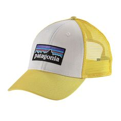 240af0ae0f3 The organic cotton canvas polyester mesh Patagonia LoPro Trucker Hat  features a ball-cap fit in a trucker setup.