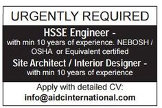 QATAR : URGENTLY REQUIRED