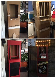 Diy creepy ticket booth