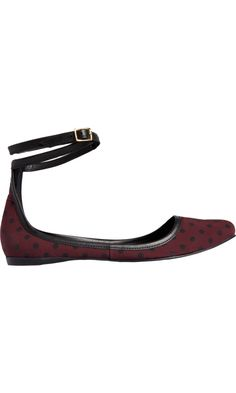Pierre Hardy Polka Dot Ankle Strap Ballet Flat