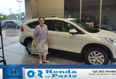 https://flic.kr/p/HEHM7S | Congratulations Nancy on your #Honda #CR-V from Sam Dees at Orr Honda of Paris! | deliverymaxx.com/DealerReviews.aspx?DealerCode=G978